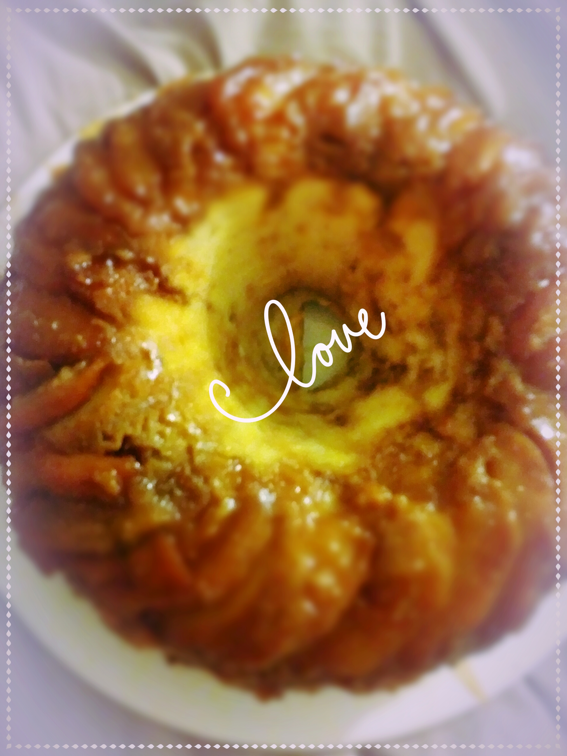 Peach Cobbler Upside-Down Pound Cake