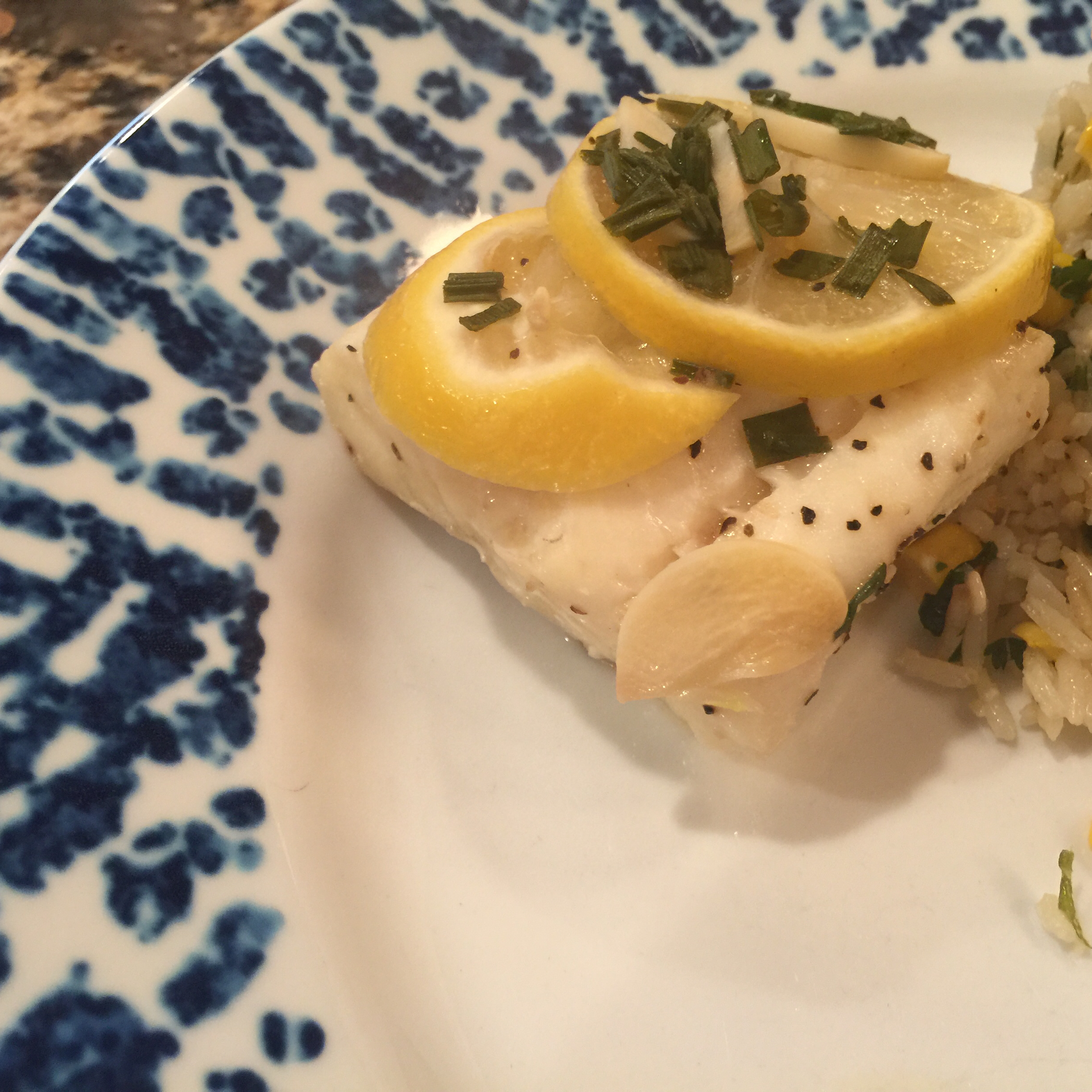 Cod with Lemon, Garlic, and Chives