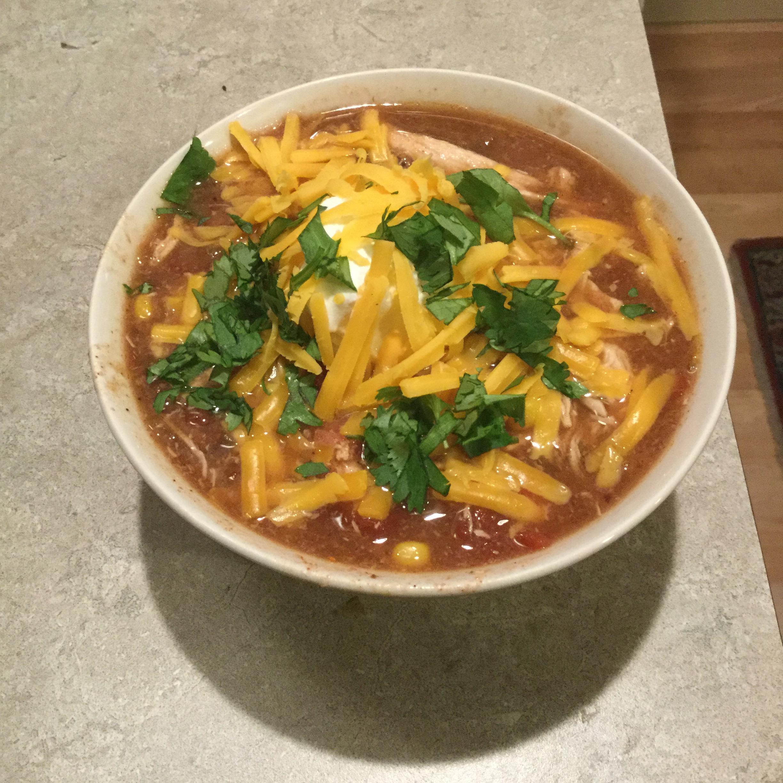 Healthier Slow Cooker Chicken Taco Soup Mertz1827