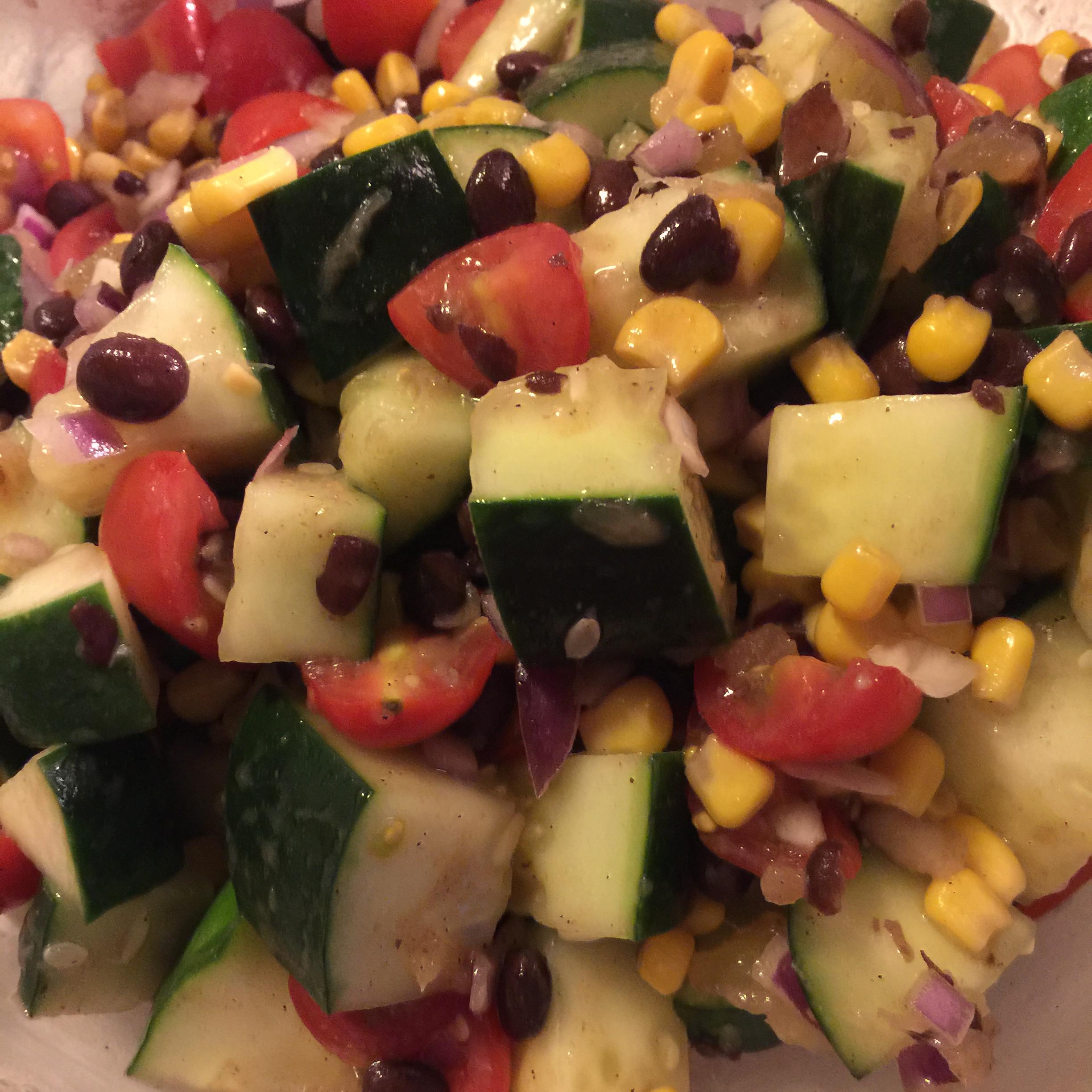 Black Bean and Cucumber Salad Priscilla Edmondson