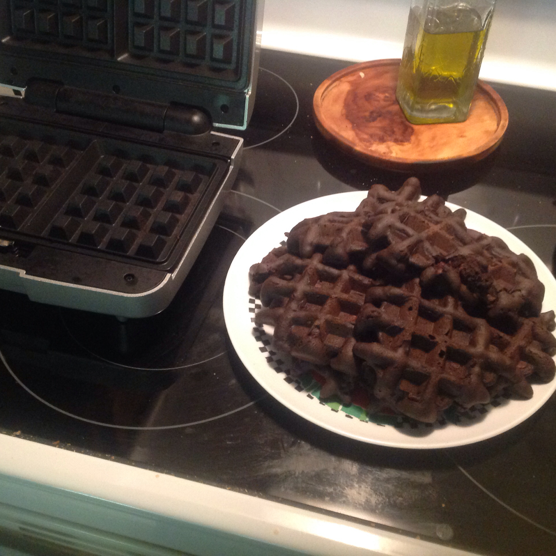 Waffle Iron Brownies Bill N Deb West