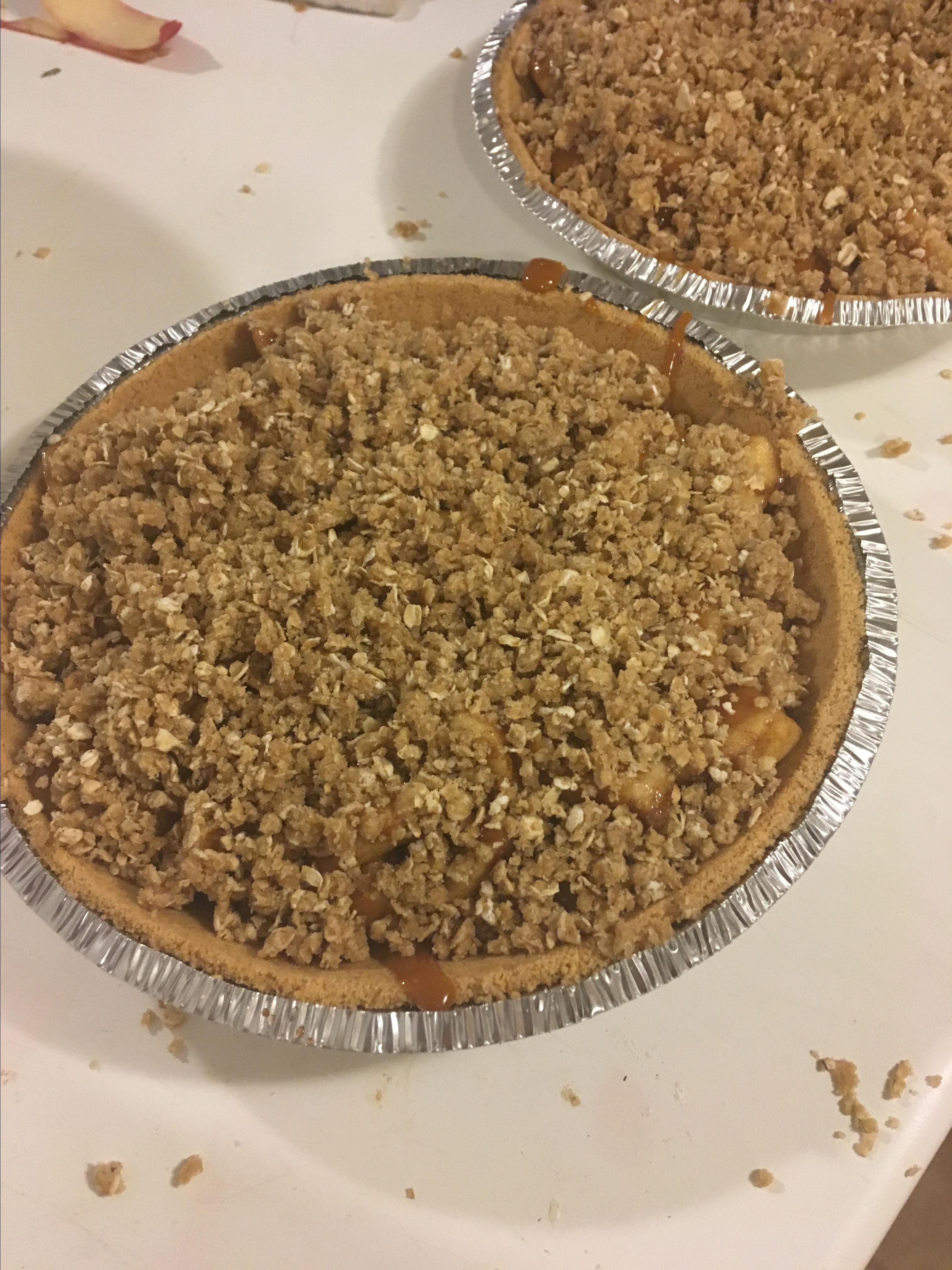 Caramel Apple Crumble Pie Candice Oldfield