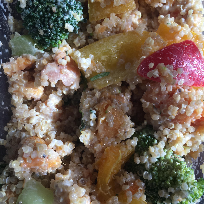 Roasted Sweet Potato Quinoa Salad Cassandra Violet