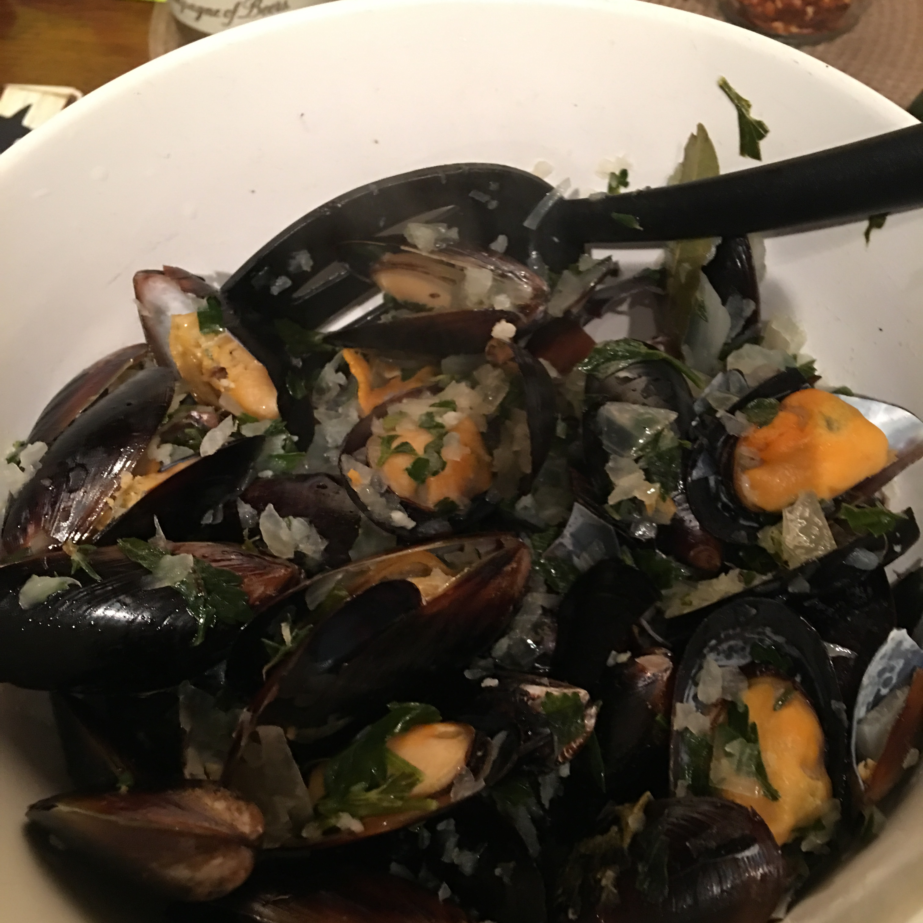 Mussels Mariniere snoopy