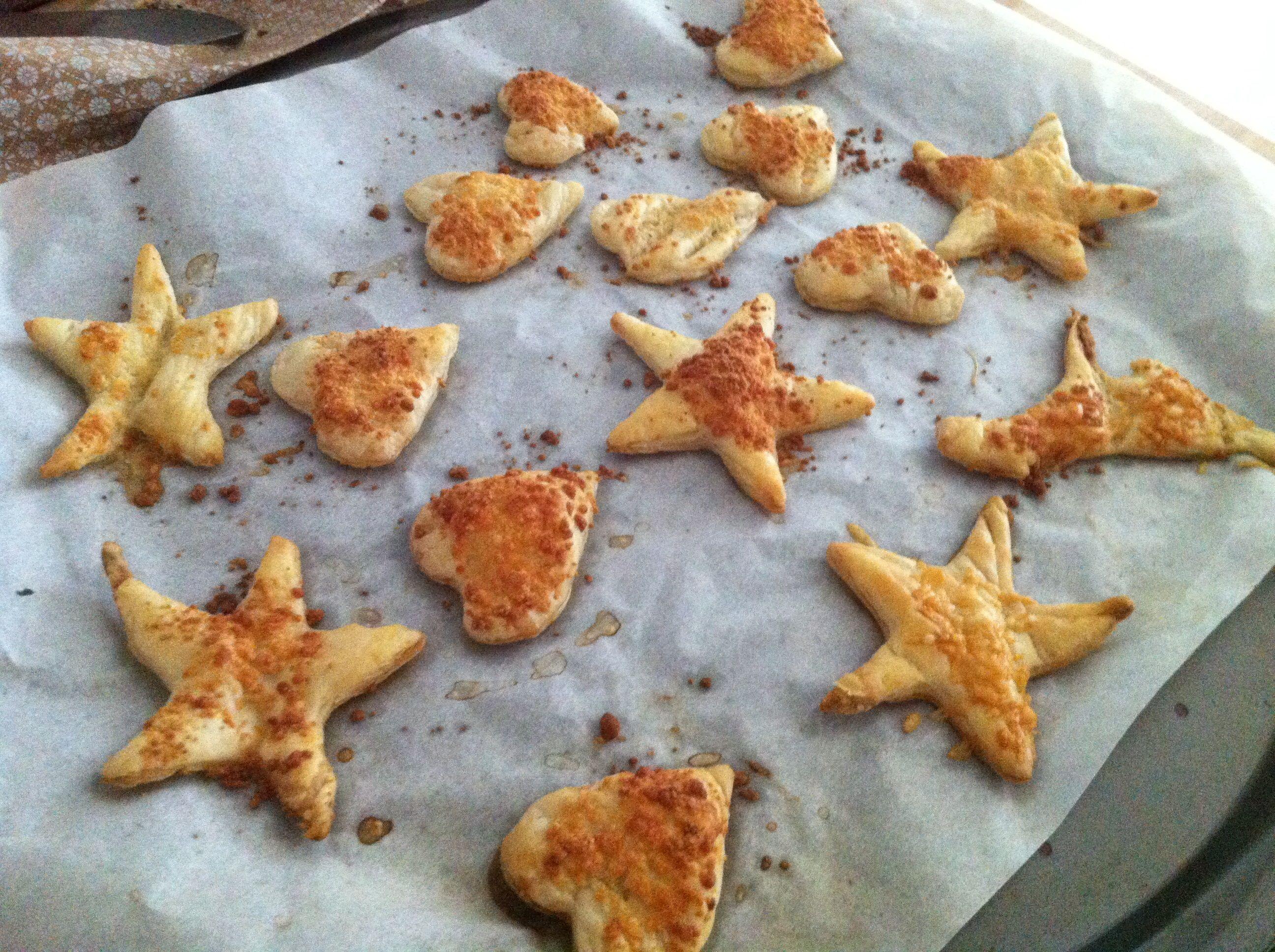 Parmesan Puff Pastry Stars AllrecipesPhoto
