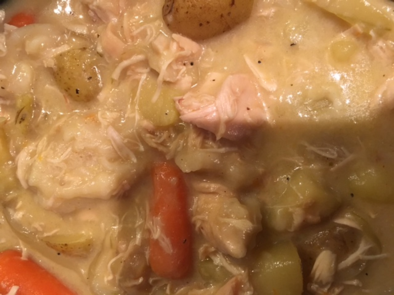 Slow Cooker Turkey and Dumplings