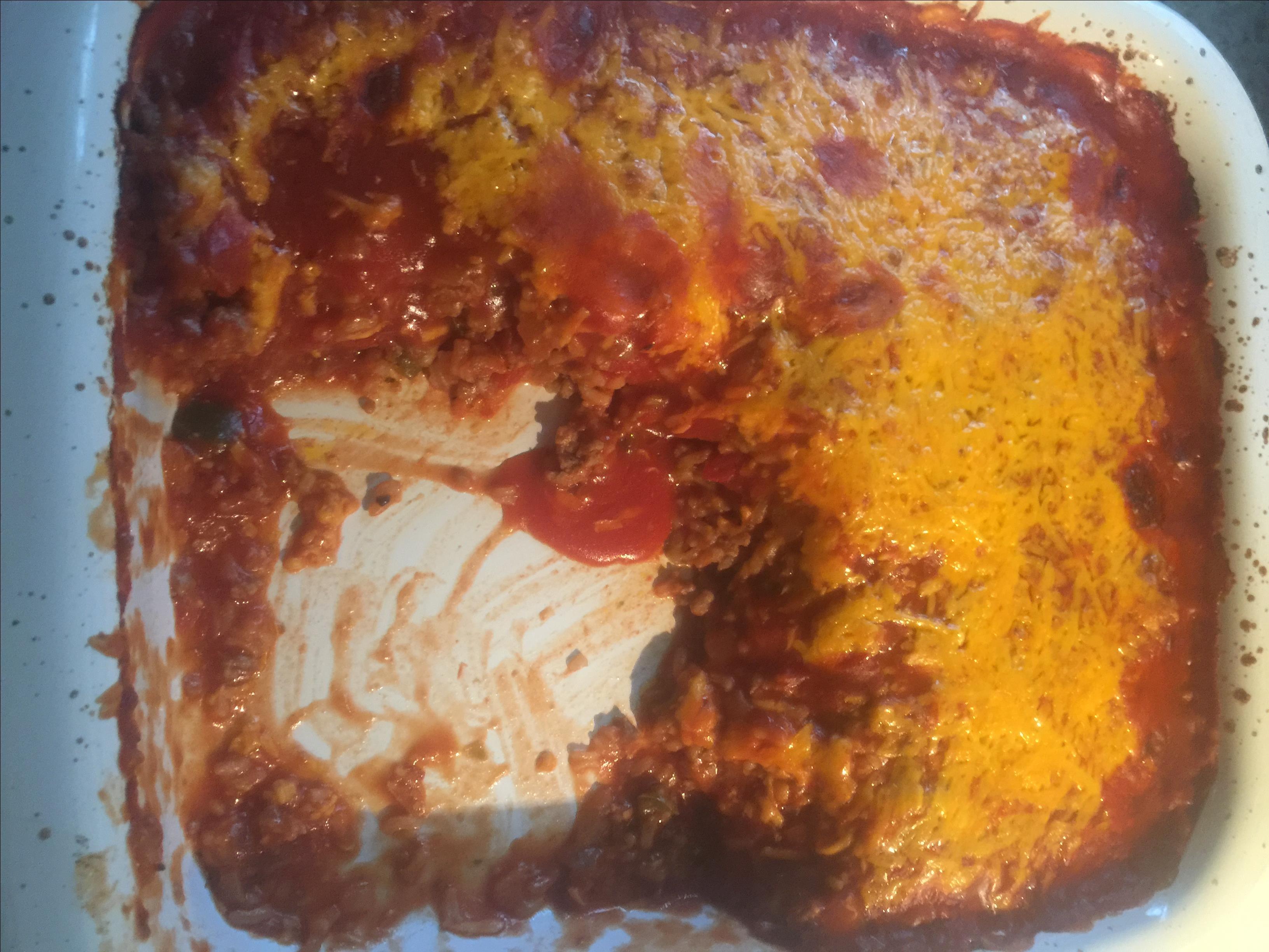 Meaty Stuffed Pepper Casserole