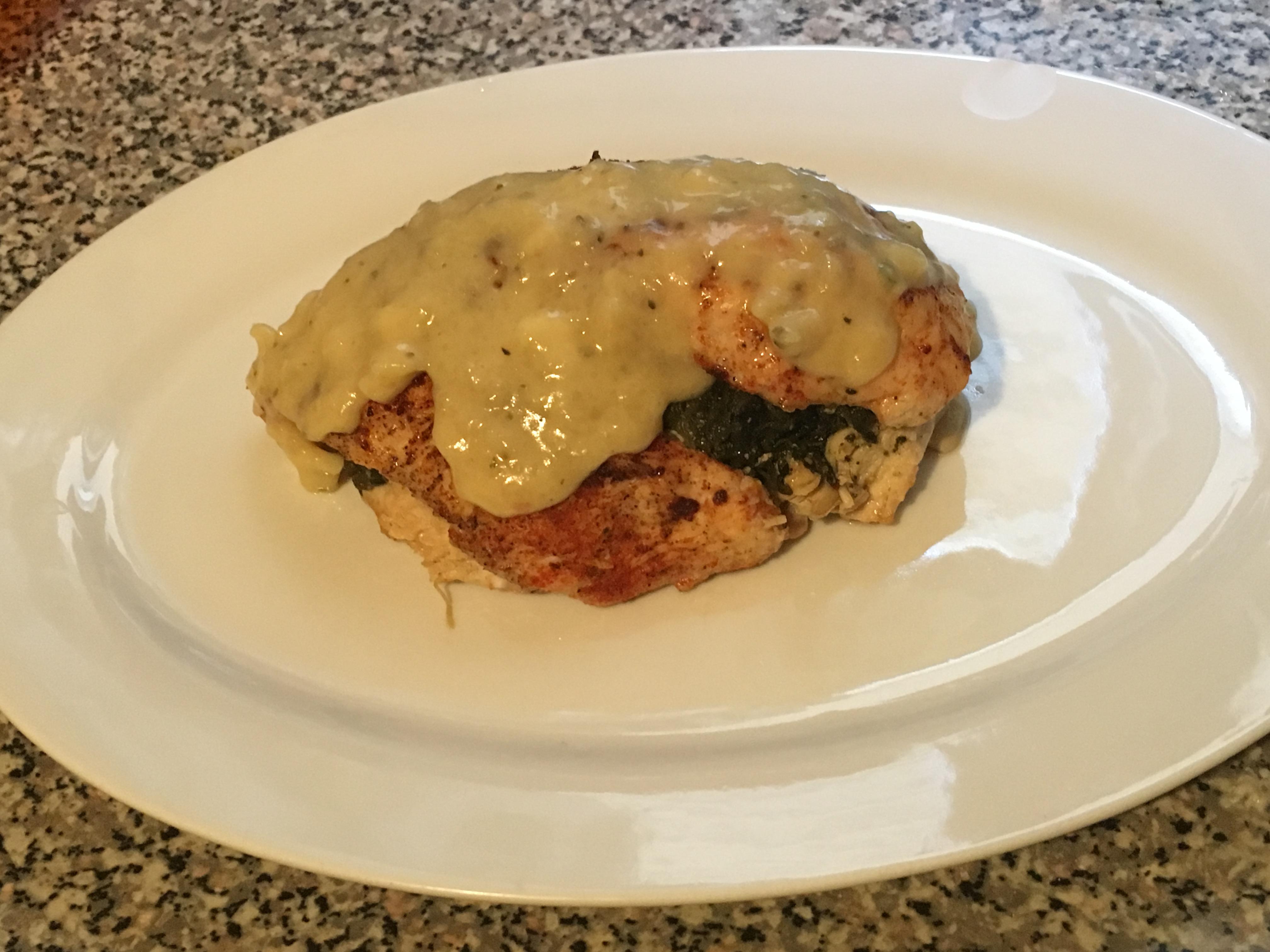 Spinach Stuffed Chicken and Gravy Christina Pannese