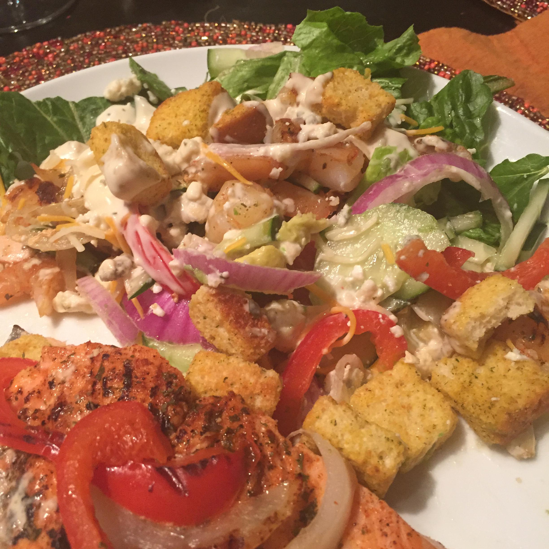 Grilled Shrimp Salad with Sesame Ginger Vinaigrette Jolene Richmond