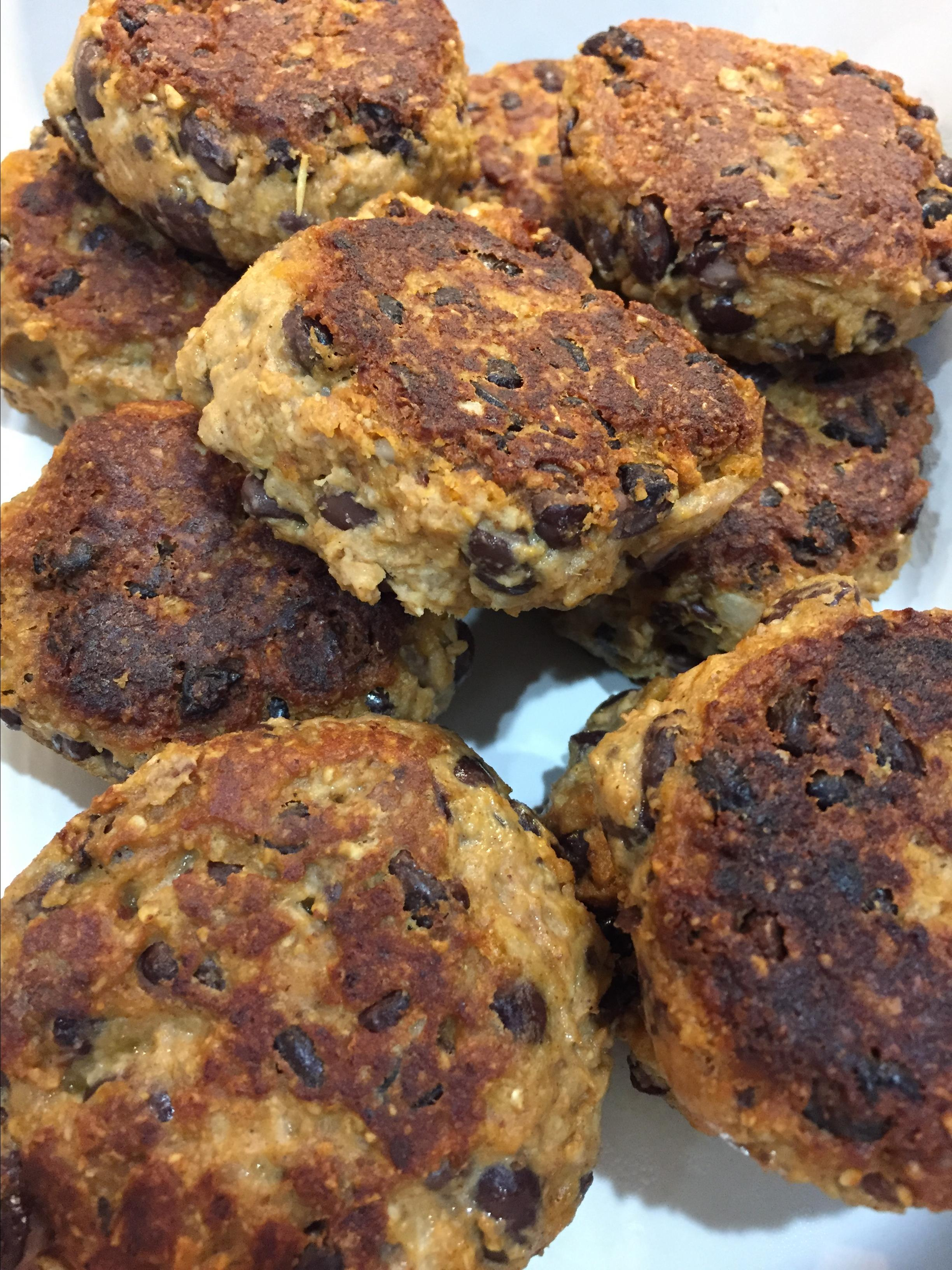 Black Bean and Walnut Burgers Yulia Manaeva