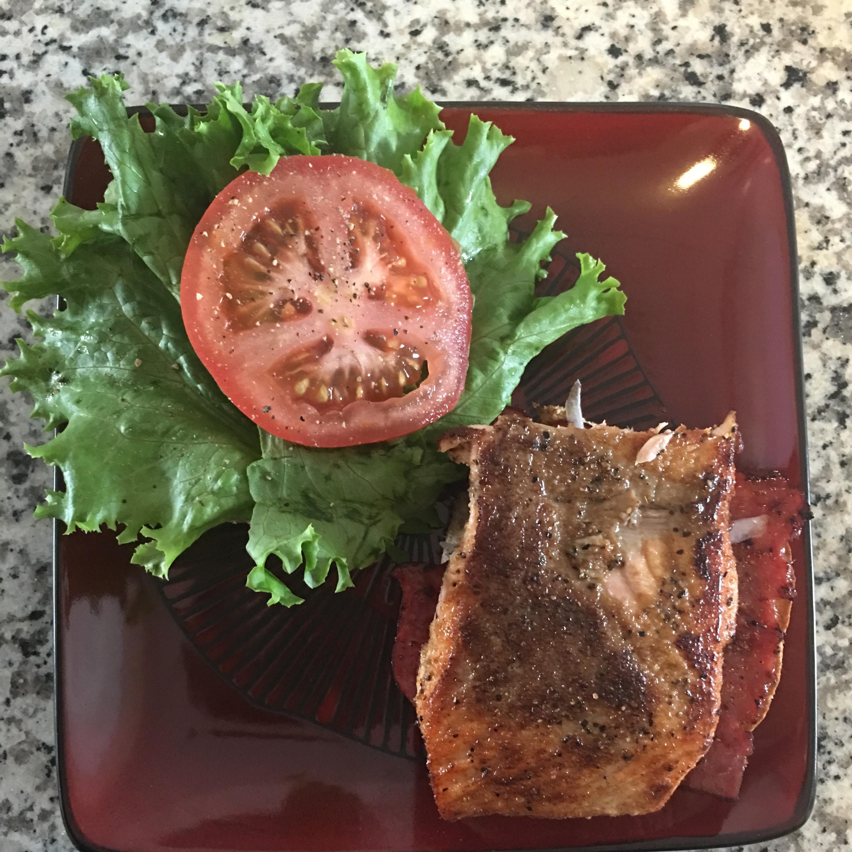 Grilled Salmon Sandwich with Dill Sauce Kesha Harris