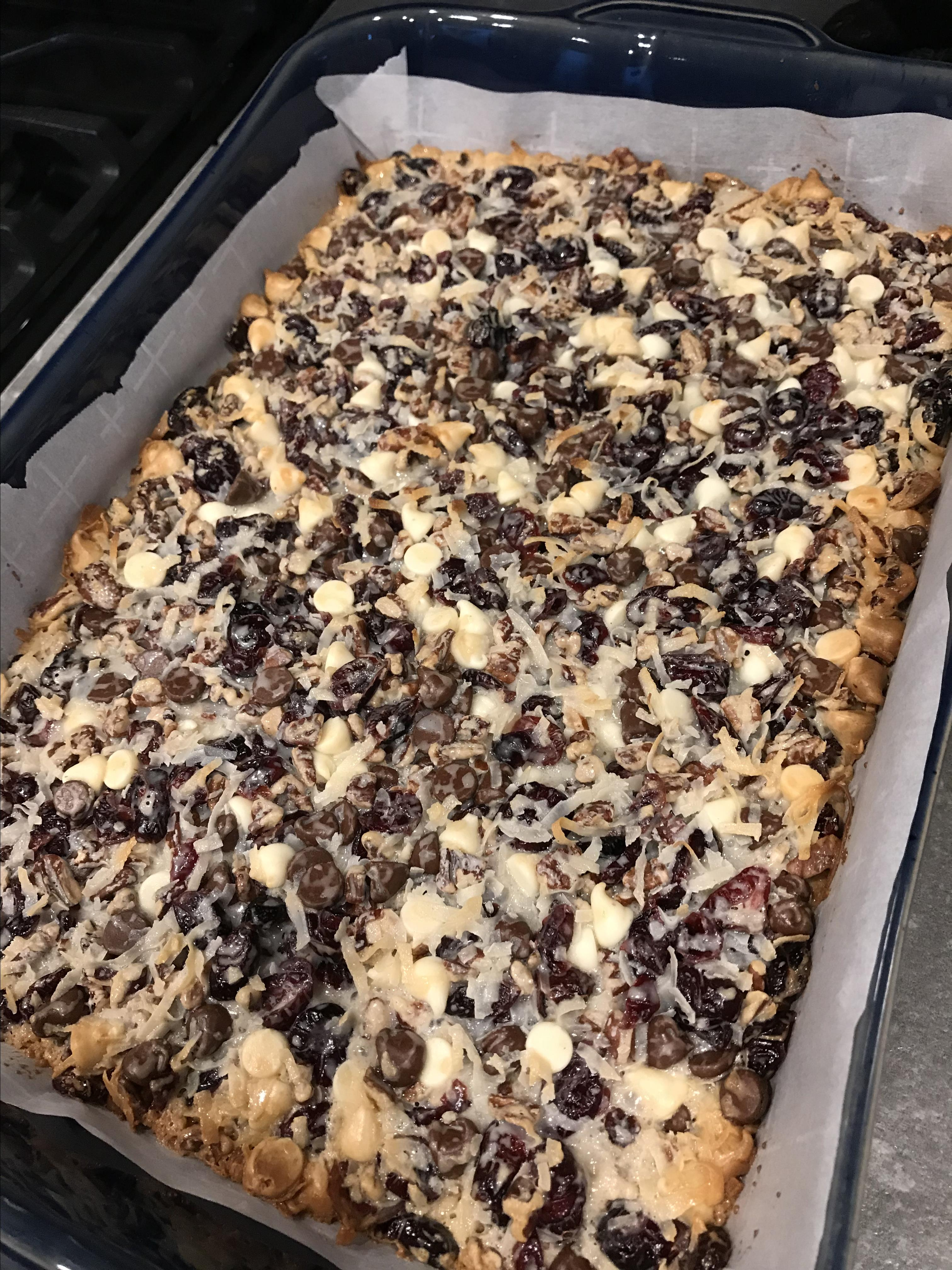 Coconut-Cranberry Bars with Pecans Donna