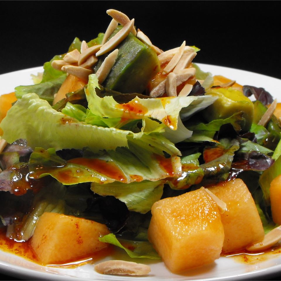 Avocado and Cantaloupe Salad with Creamy French Dressing