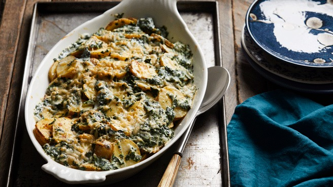 Parmesan Scalloped Potatoes with Spinach Allrecipes Trusted Brands