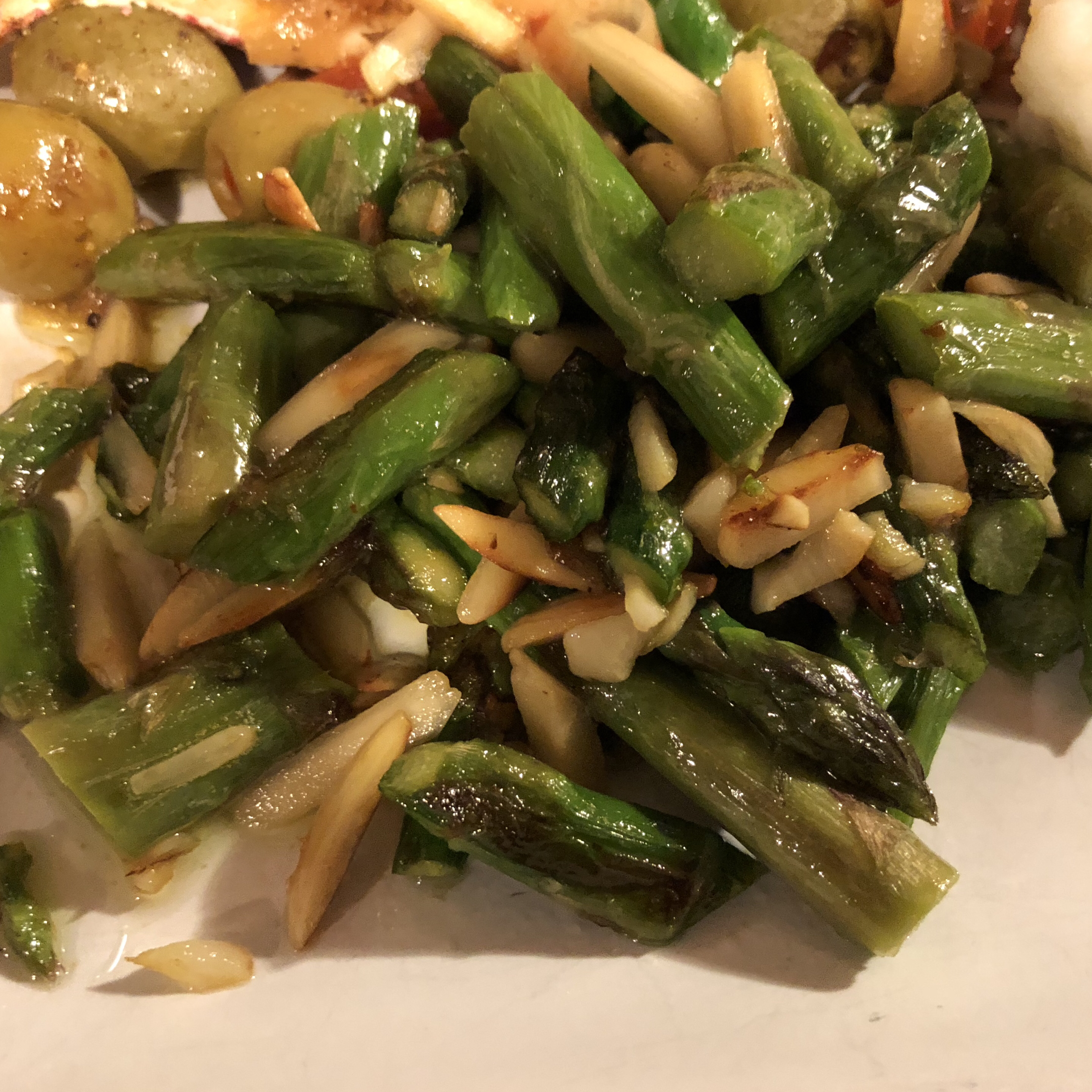 Asparagus with Sliced Almonds and Parmesan Cheese Jennifer Neeley Guidry