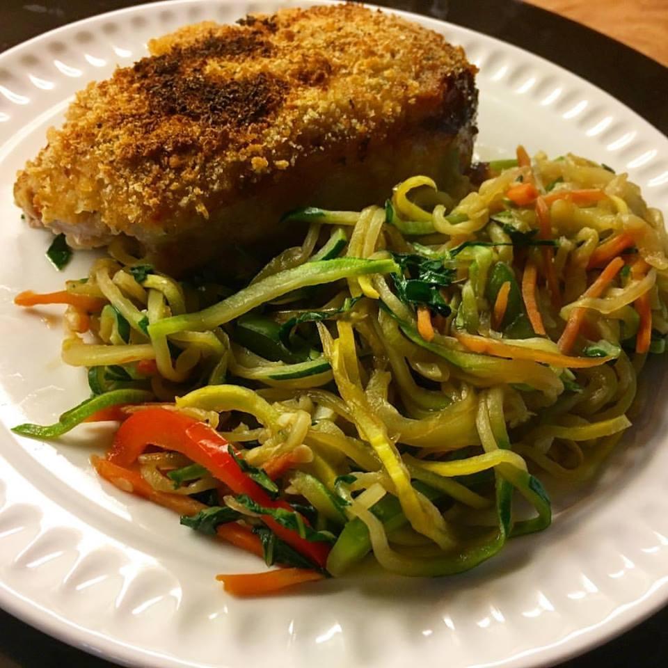 Paleo Teriyaki Stir-Fry Zoodles (Gluten Free)