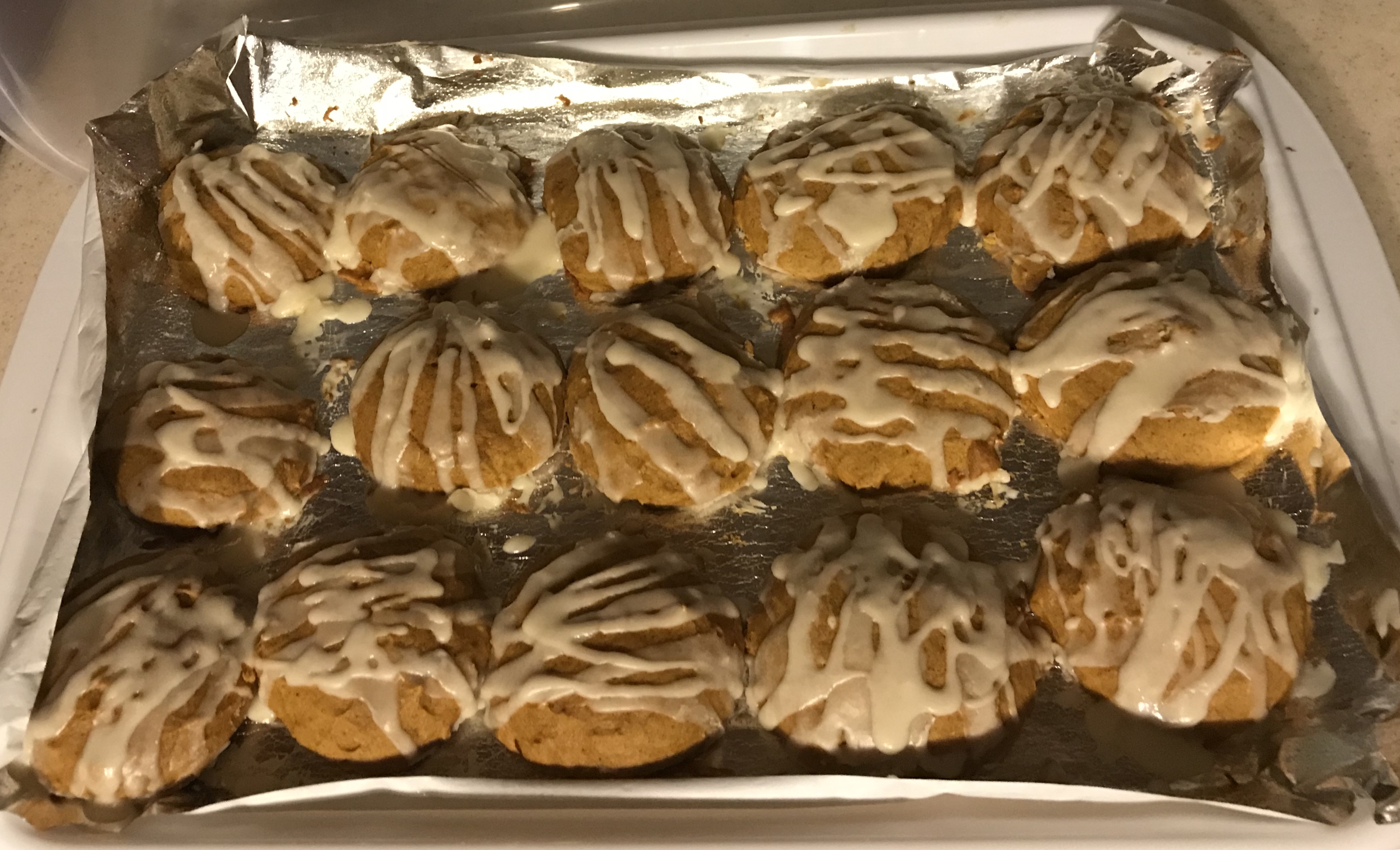 Iced Pumpkin Cookies Amy