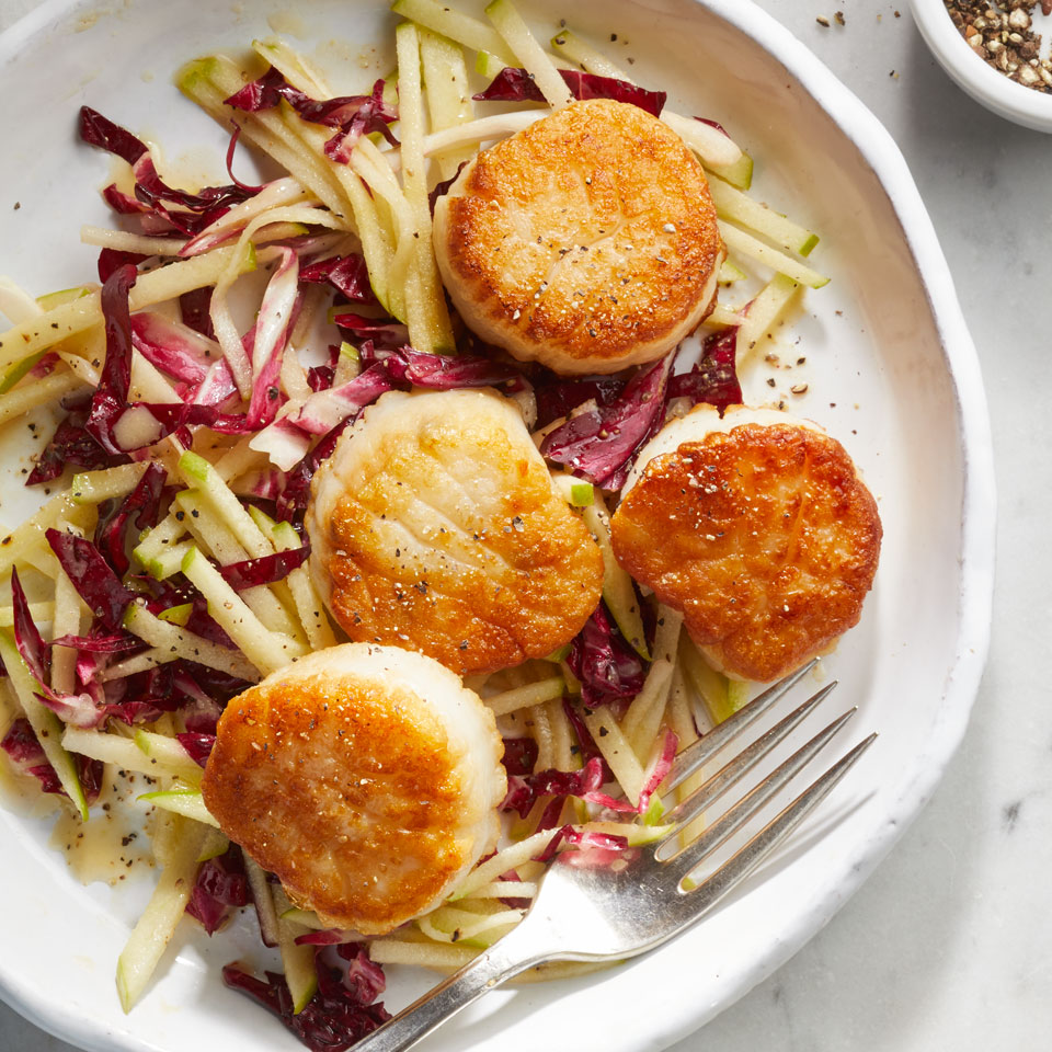 Scallops with Radicchio-Apple Slaw Allrecipes Trusted Brands