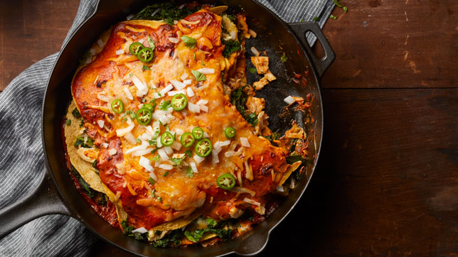 Adobo Chicken & Kale Enchiladas Trusted Brands