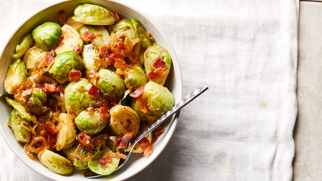 Cider-Braised Brussels Sprouts with Bacon Trusted Brands