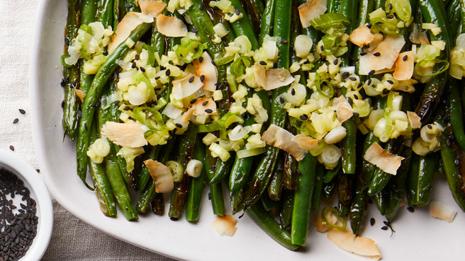 Blistered Green Beans with Coconut, Sesame & Scallion Oil Trusted Brands