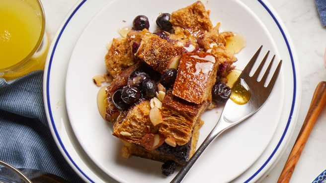 Blueberry-Almond Overnight French Toast Allrecipes Trusted Brands