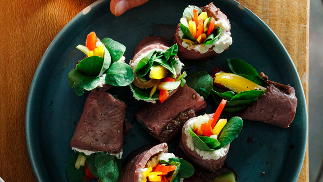 Beef & Watercress Maki Rolls Trusted Brands