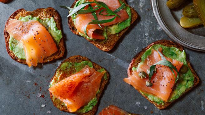 Smoked Salmon & Avocado Toasts Trusted Brands