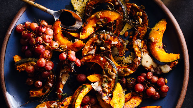 Roasted Kabocha Squash & Grapes Allrecipes Trusted Brands