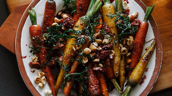 Roasted Carrots with Calimyrna Fig Dressing Trusted Brands