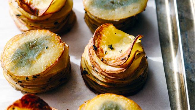 Crispy Potato Stacks with Fresh Sage Trusted Brands