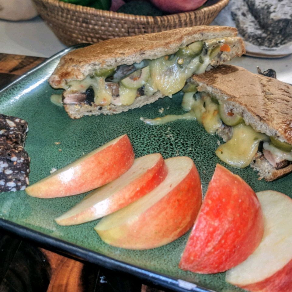 Hot Portobello Mushroom Sandwich Cherie