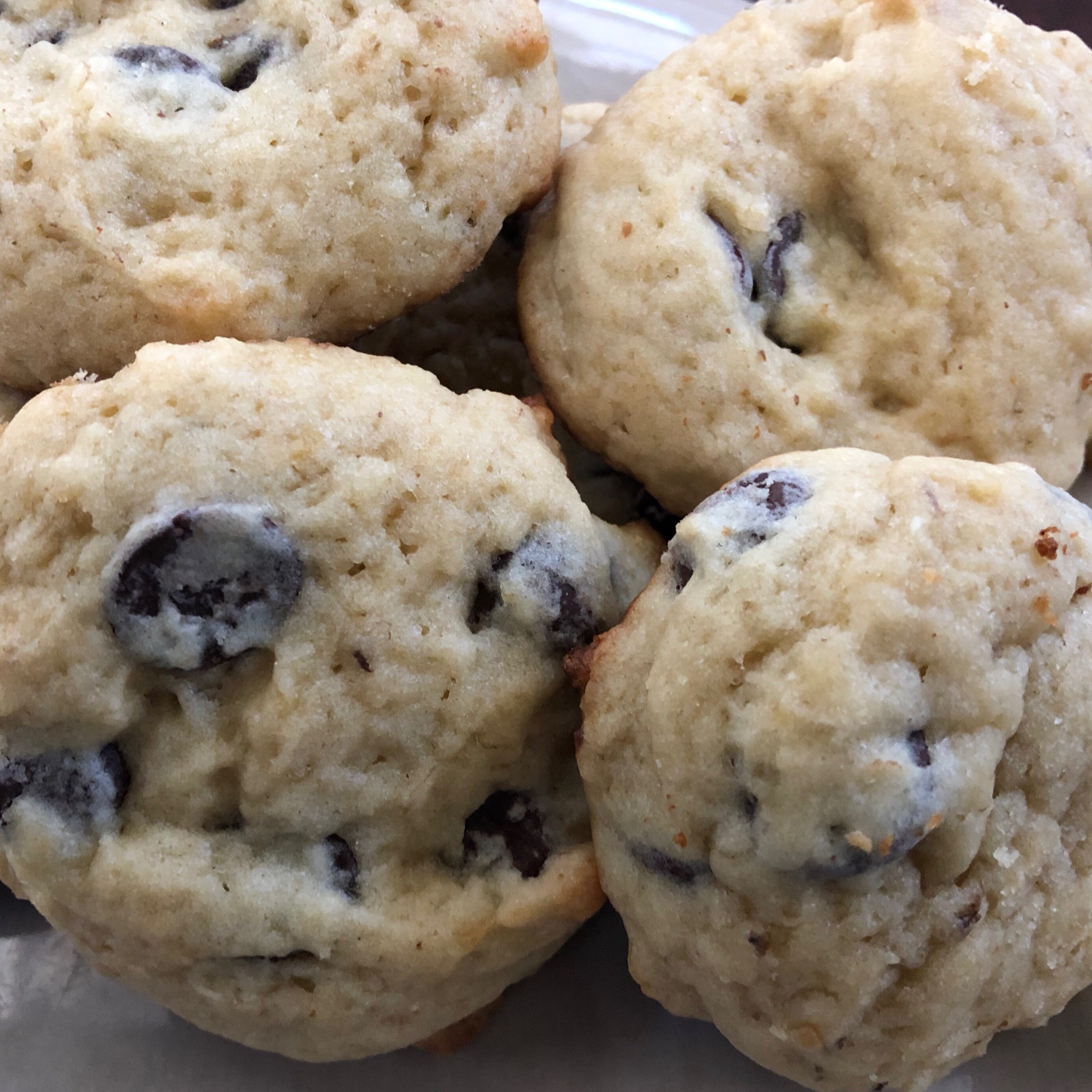 Cakey and light, these healthy-ish cookies are similar in texture tomuffin tops. An extra ¼ cup of flour and 1 teaspoon less baking powder are the only two adjustments needed to get these goodies ready for altitude.