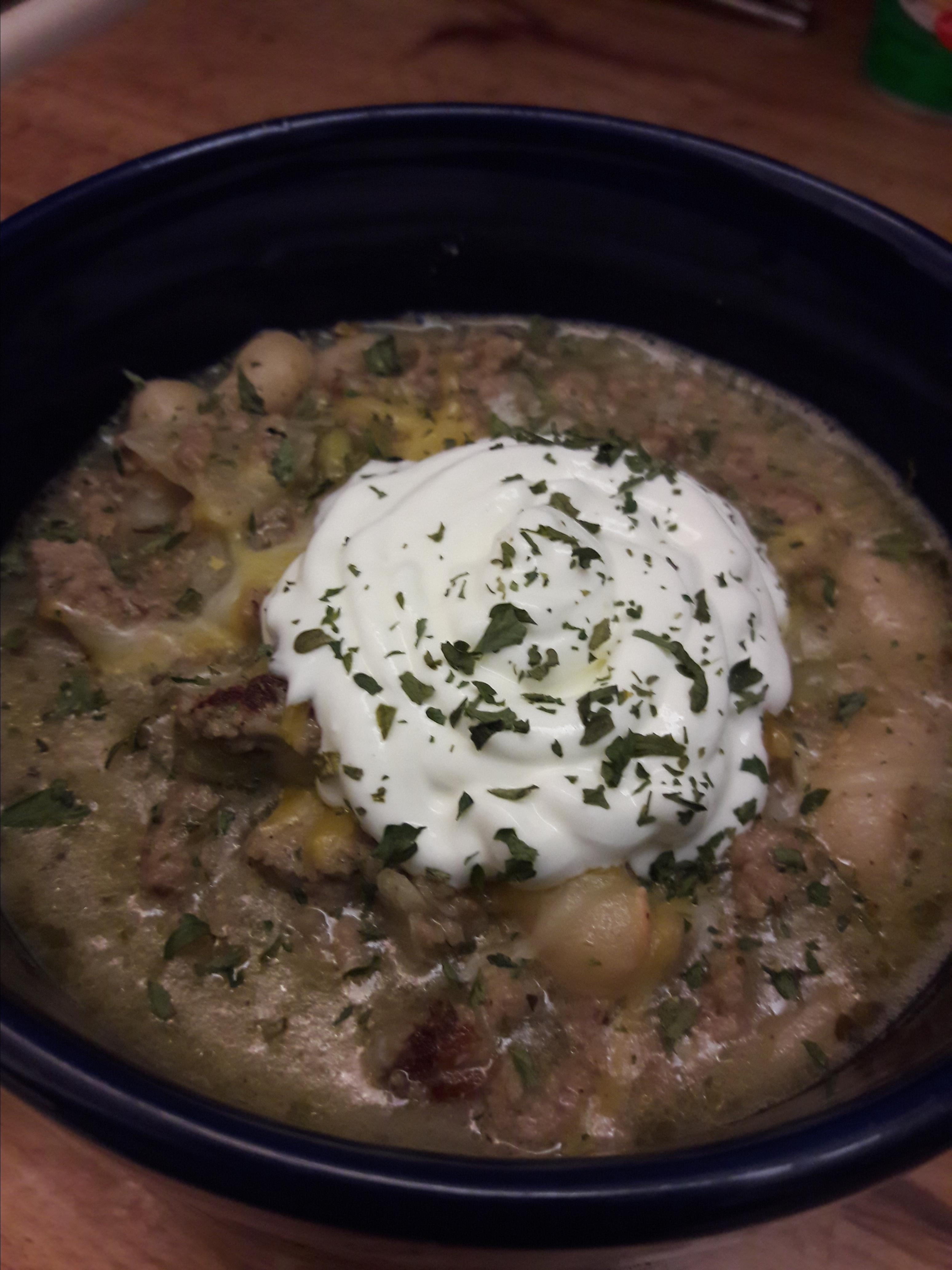 White Chili with Ground Turkey Nuphoenix