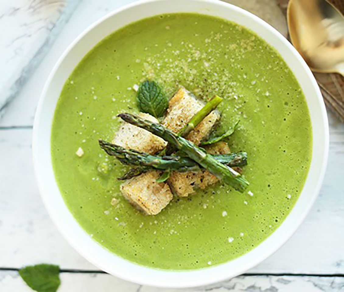 Creamy Asparagus and Pea Soup