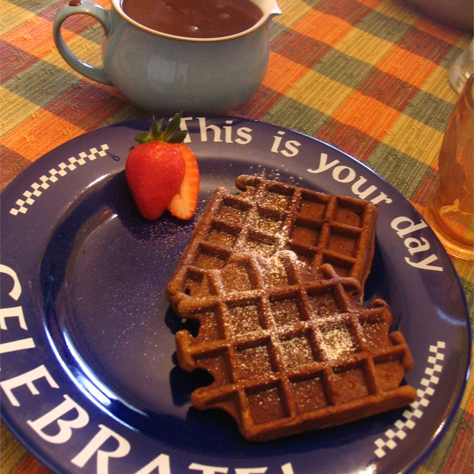 Gingerbread Waffles with Hot Chocolate Sauce Jann Rowe