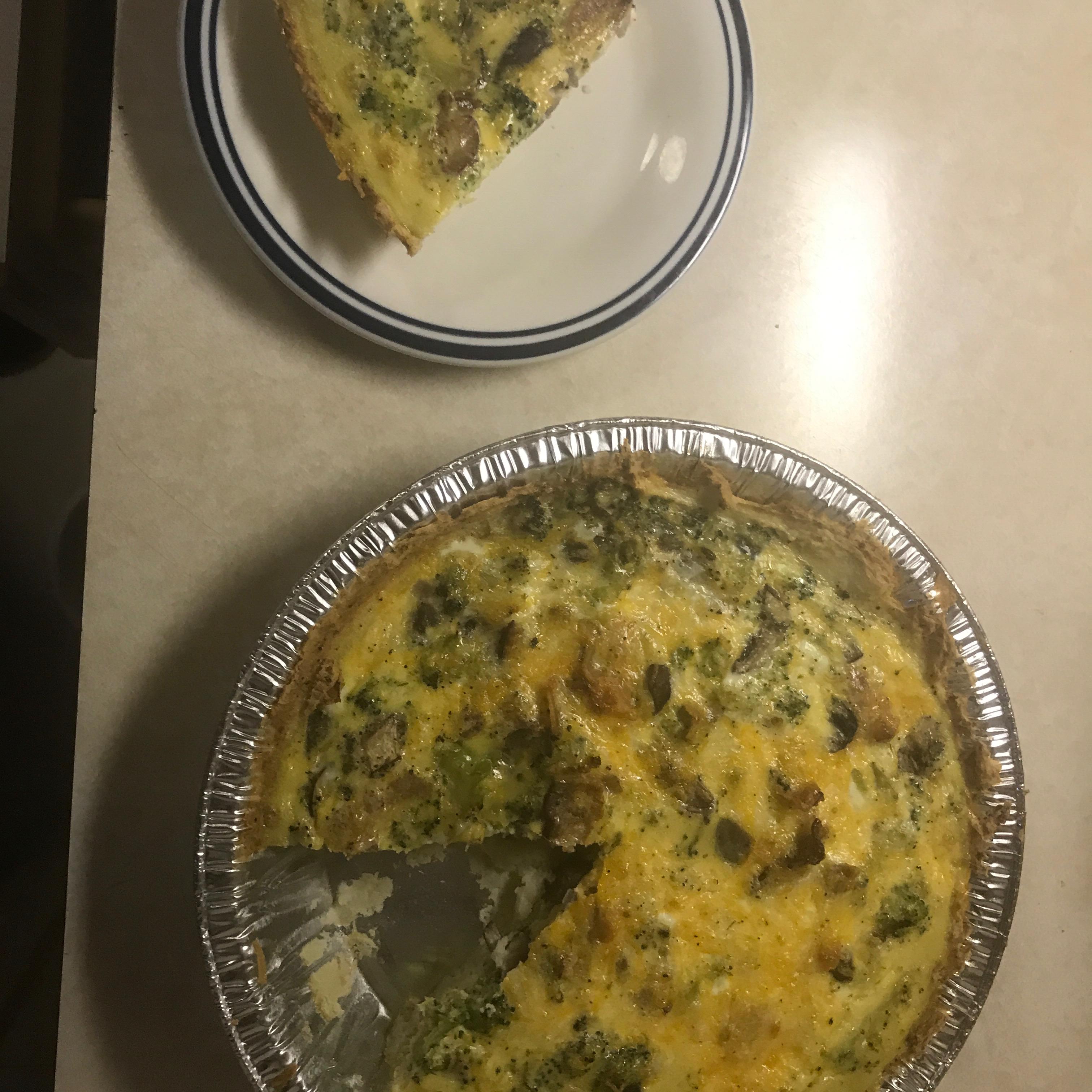 Broccoli Quiche with Mashed Potato Crust cjchope1