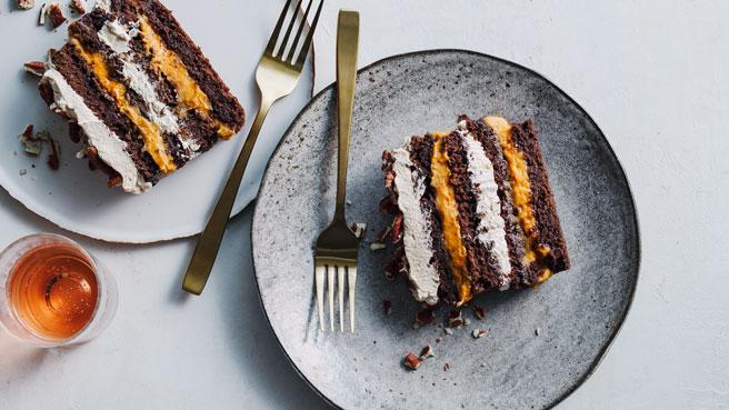 Pumpkin-Chocolate Cream Cake Trusted Brands