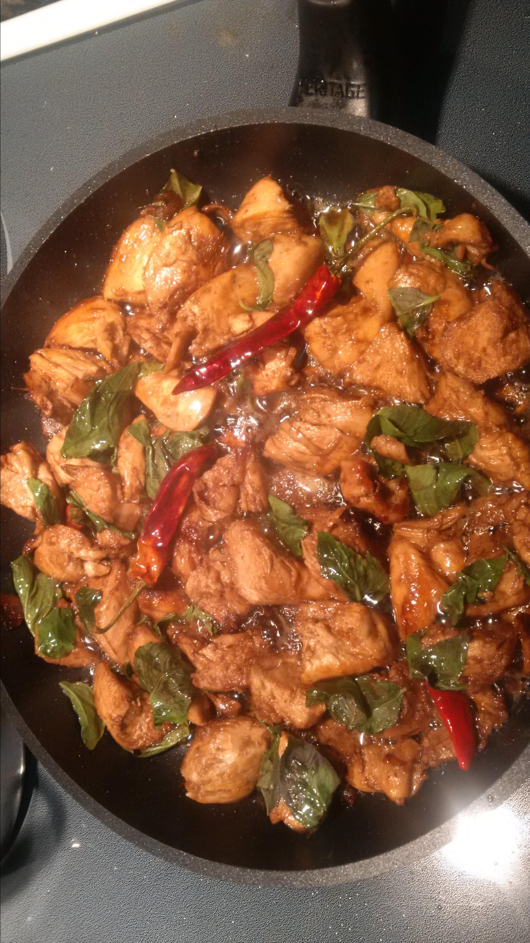 Taiwanese-Style Three Cup Chicken Cher55572