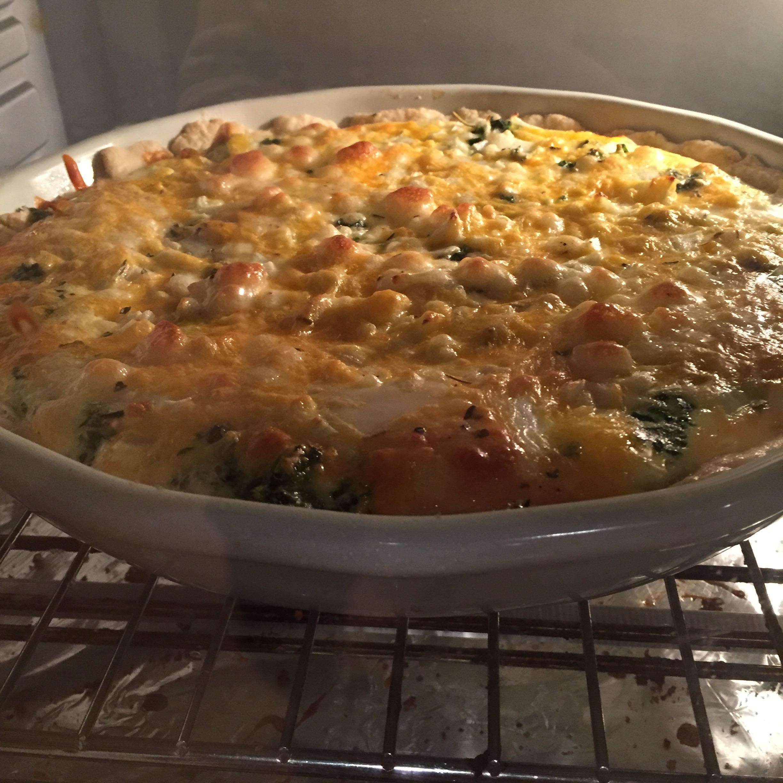 Spinach Quiche with Chicken Brittabritt