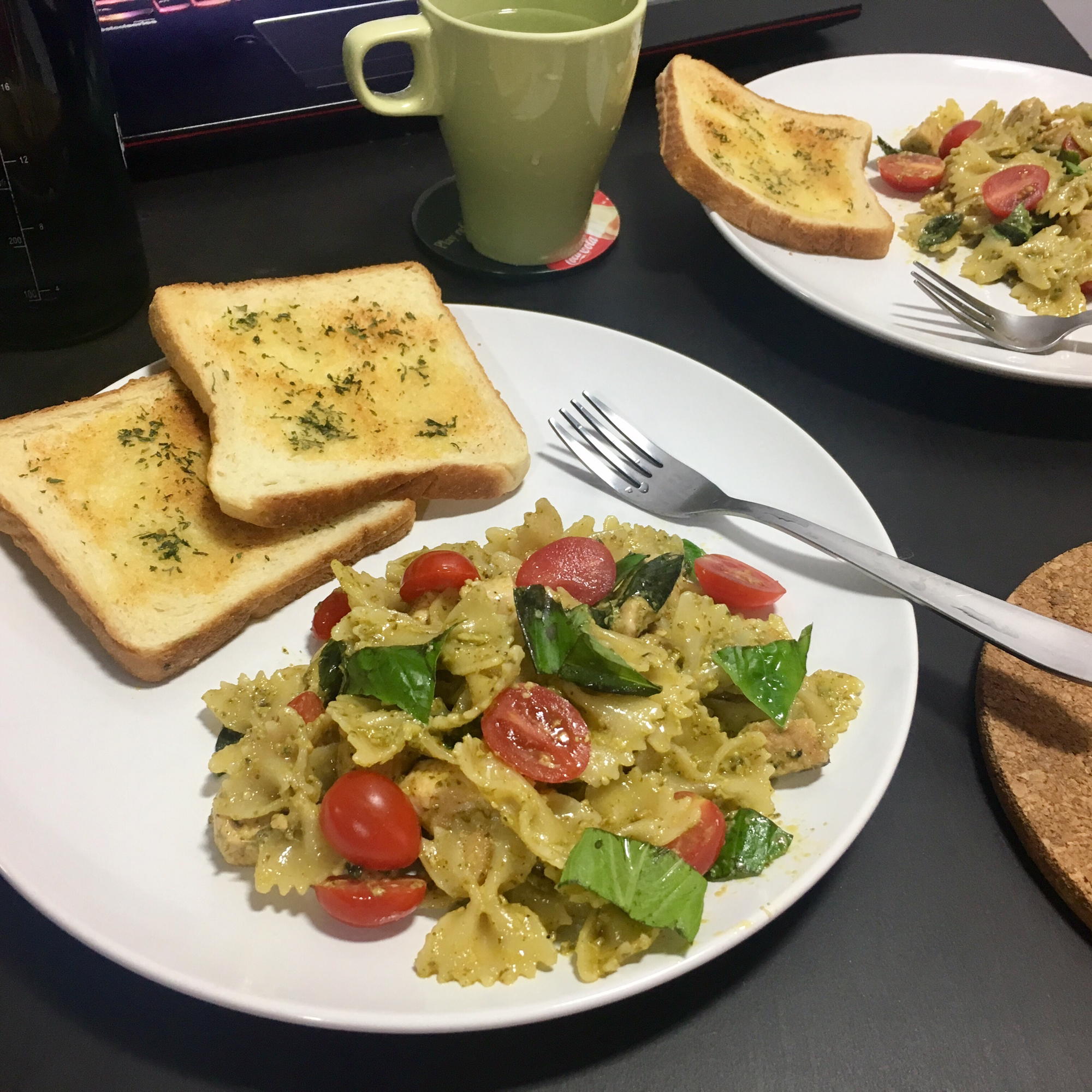 Pesto Pasta with Chicken Cess Aguilar