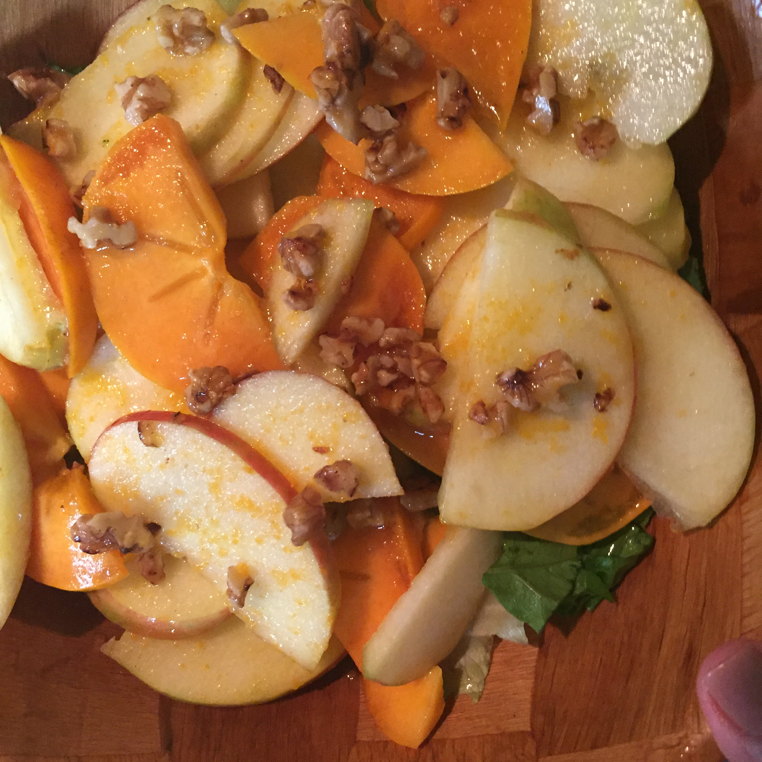 Persimmon and Apple Salad