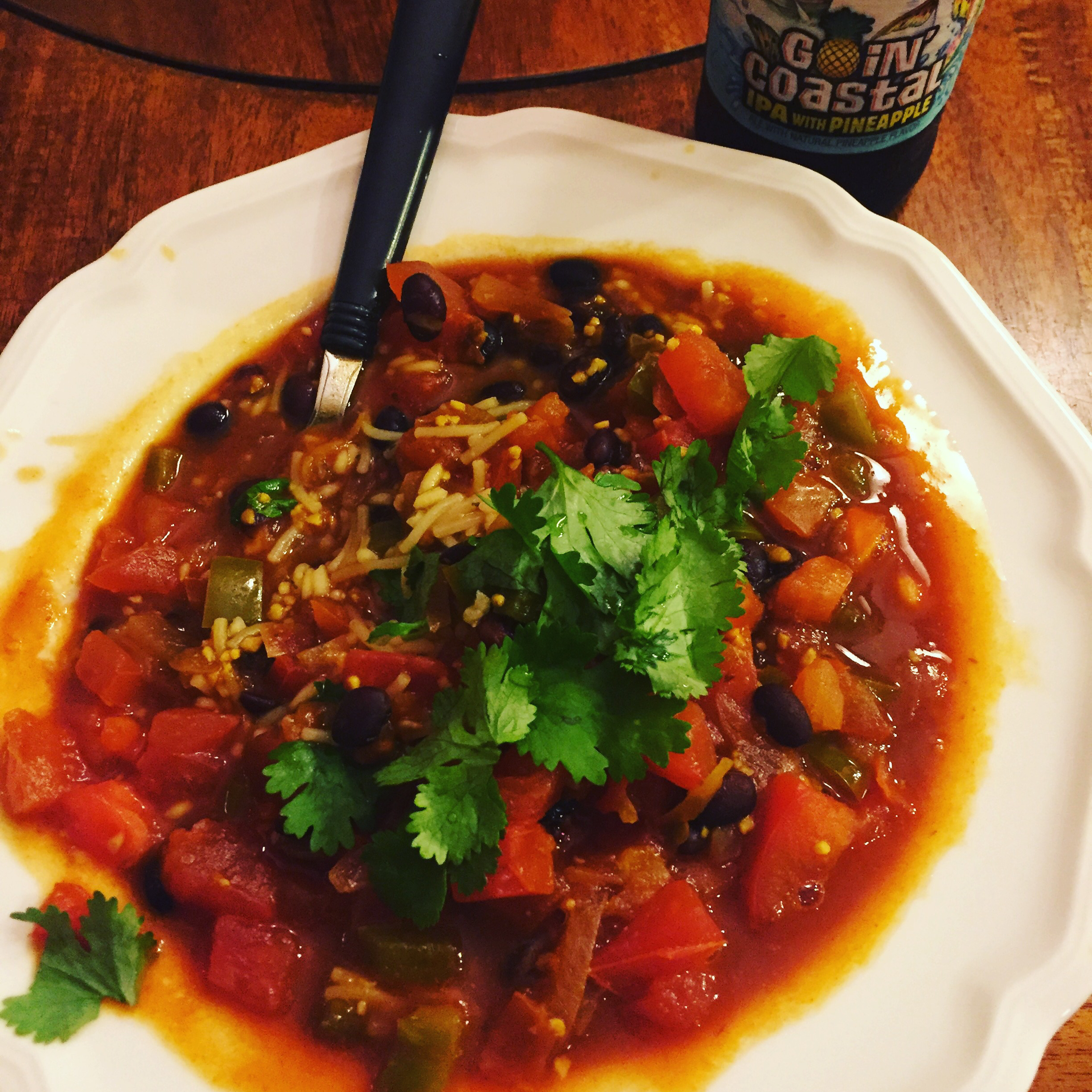 Spicy Vegetarian Black Beans (Fusion) FFTorched
