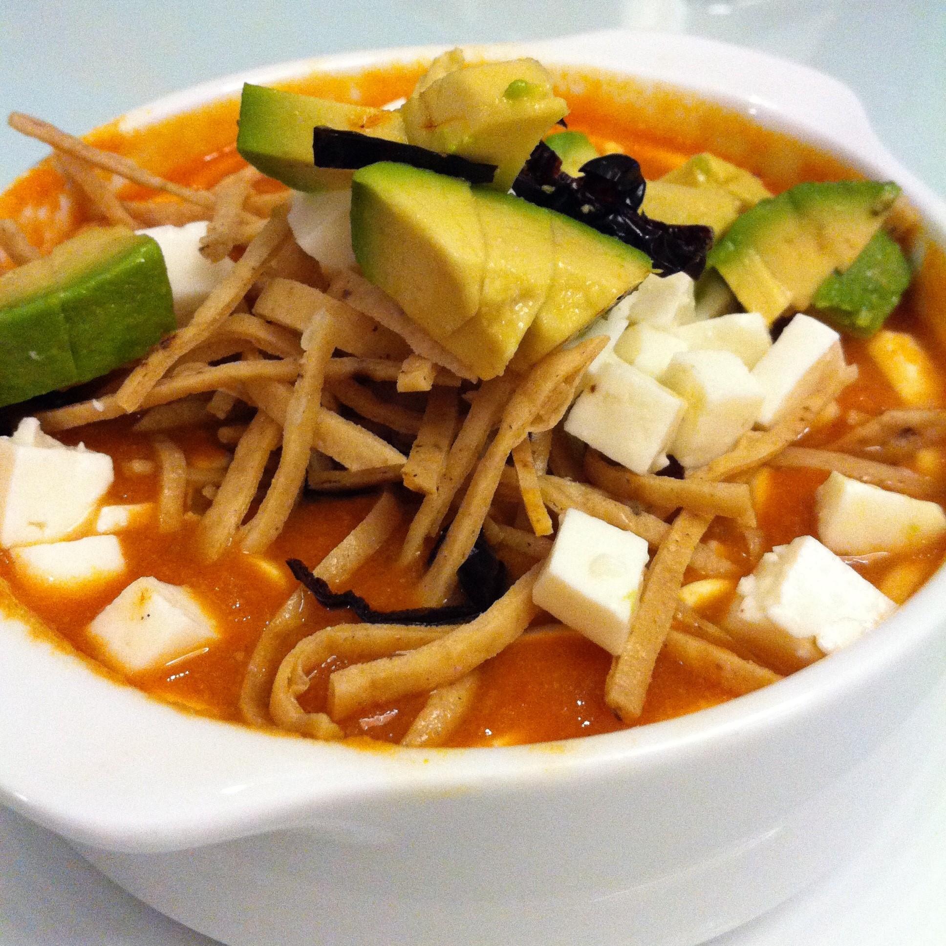 Sopa de Tortilla (Real Mexican Tortilla Soup)