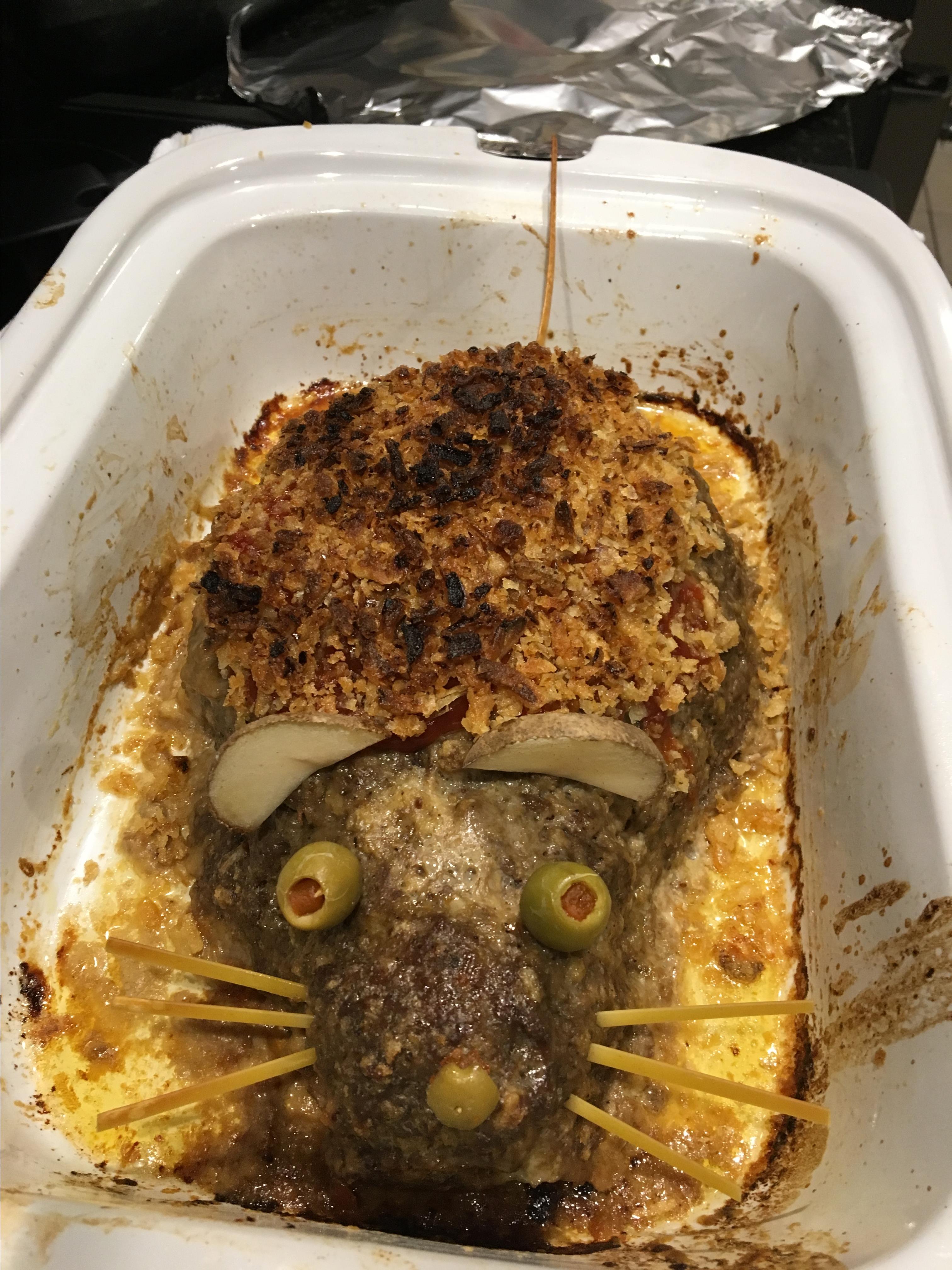 Ratloaf (Halloween Meatloaf) Leanna