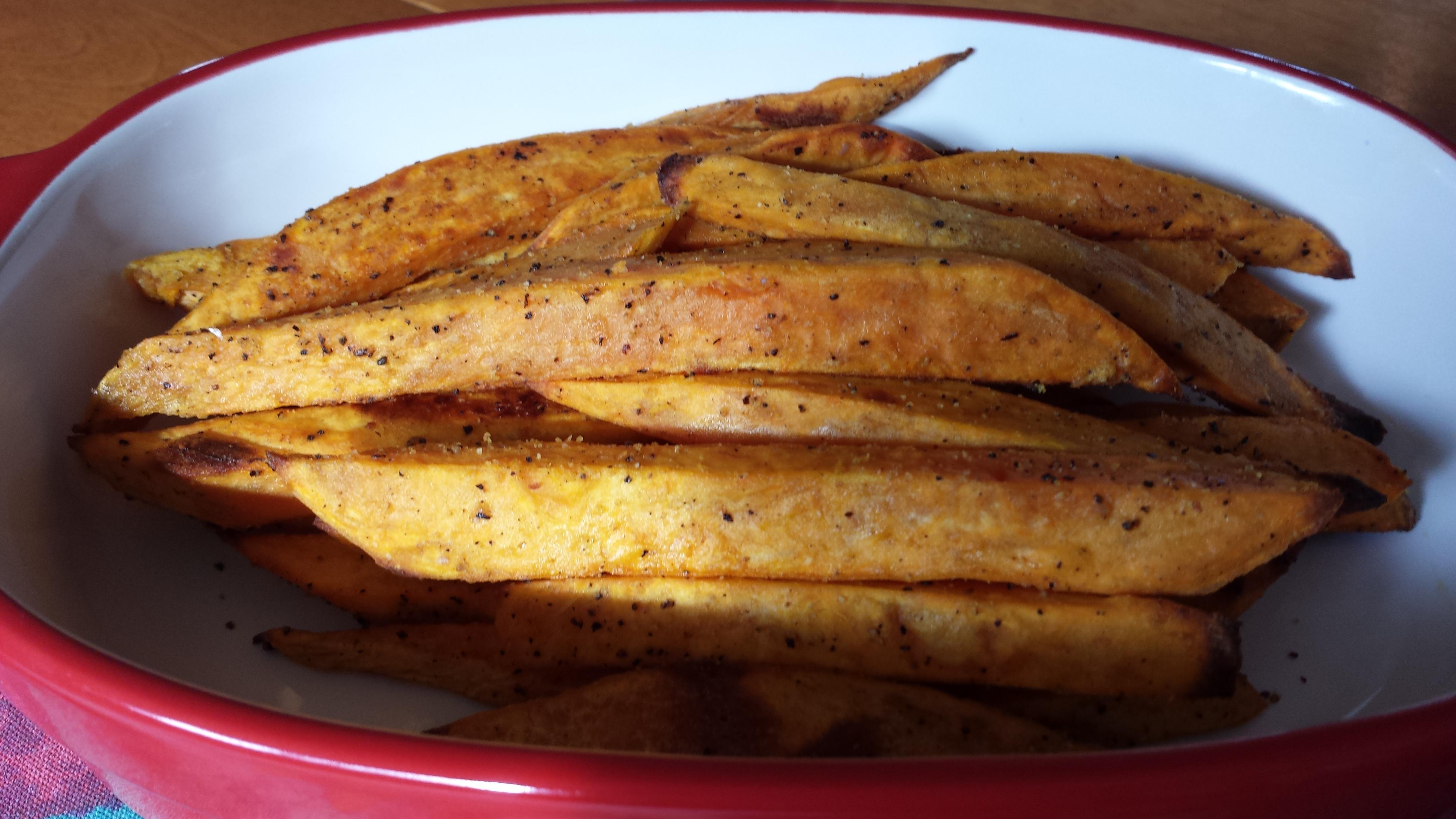 Spicy Baked Sweet Potato Fries debbie eckstein