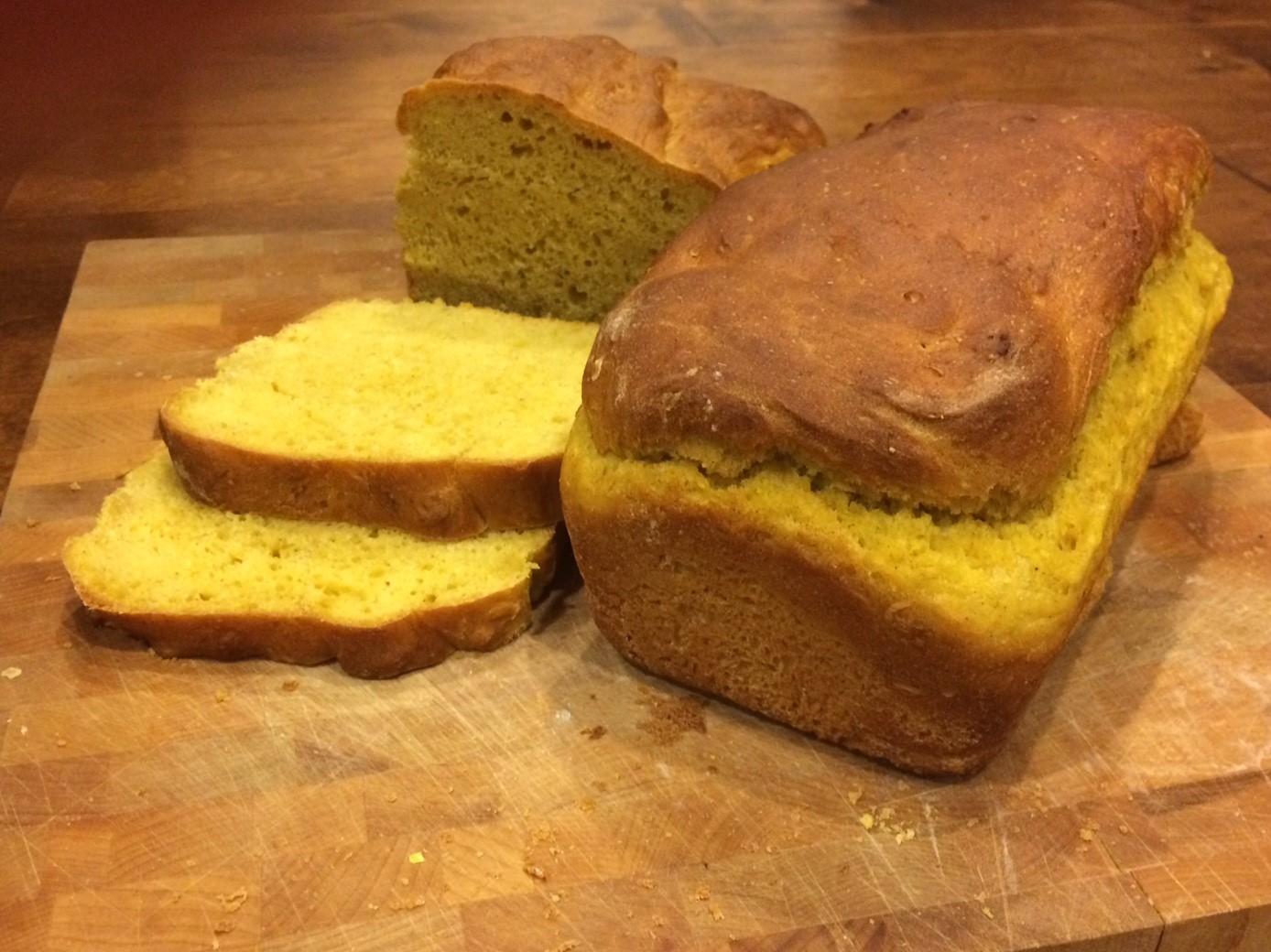 Pumpkin Yeast Bread Loaves
