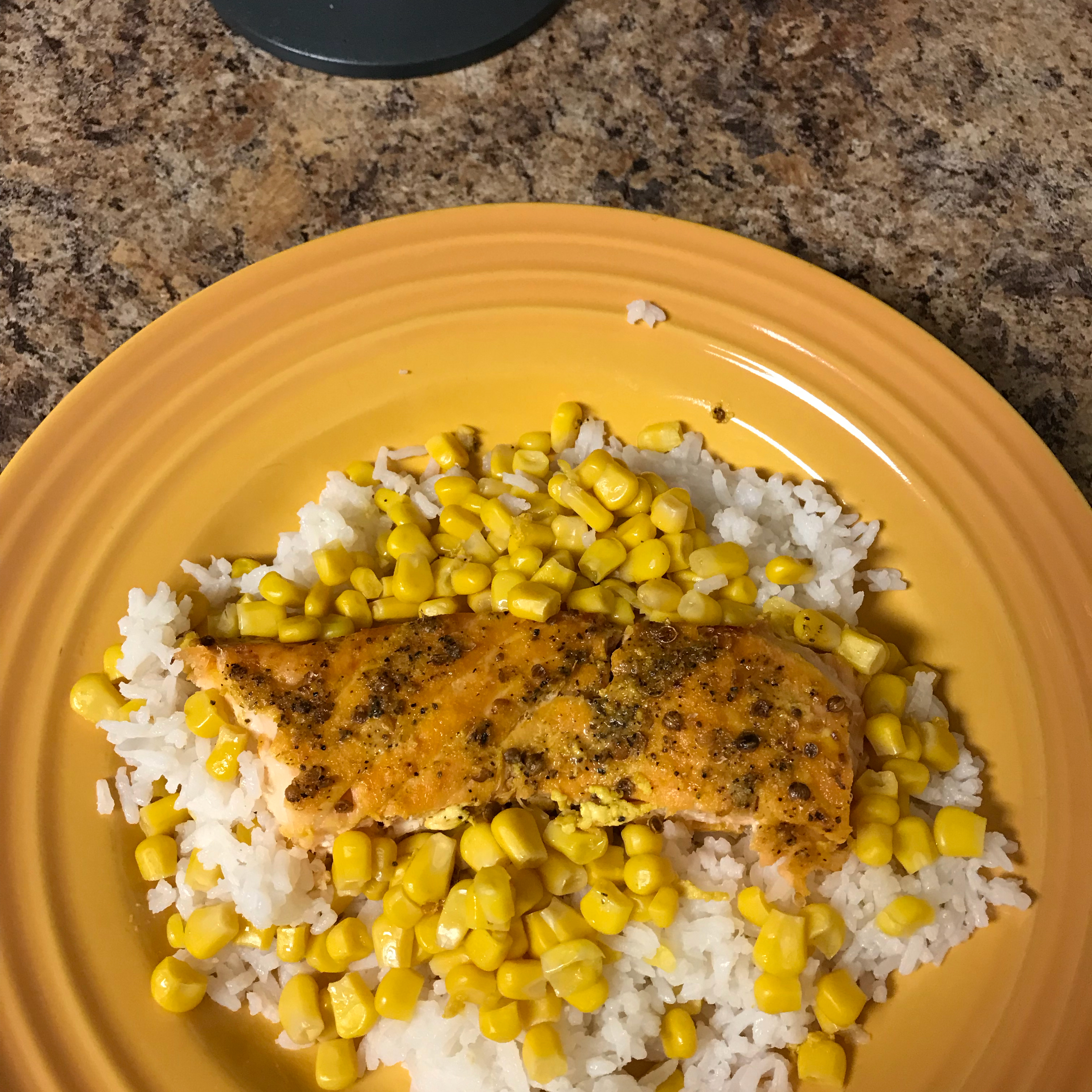 Baked Salmon with Tropical Rice tammy