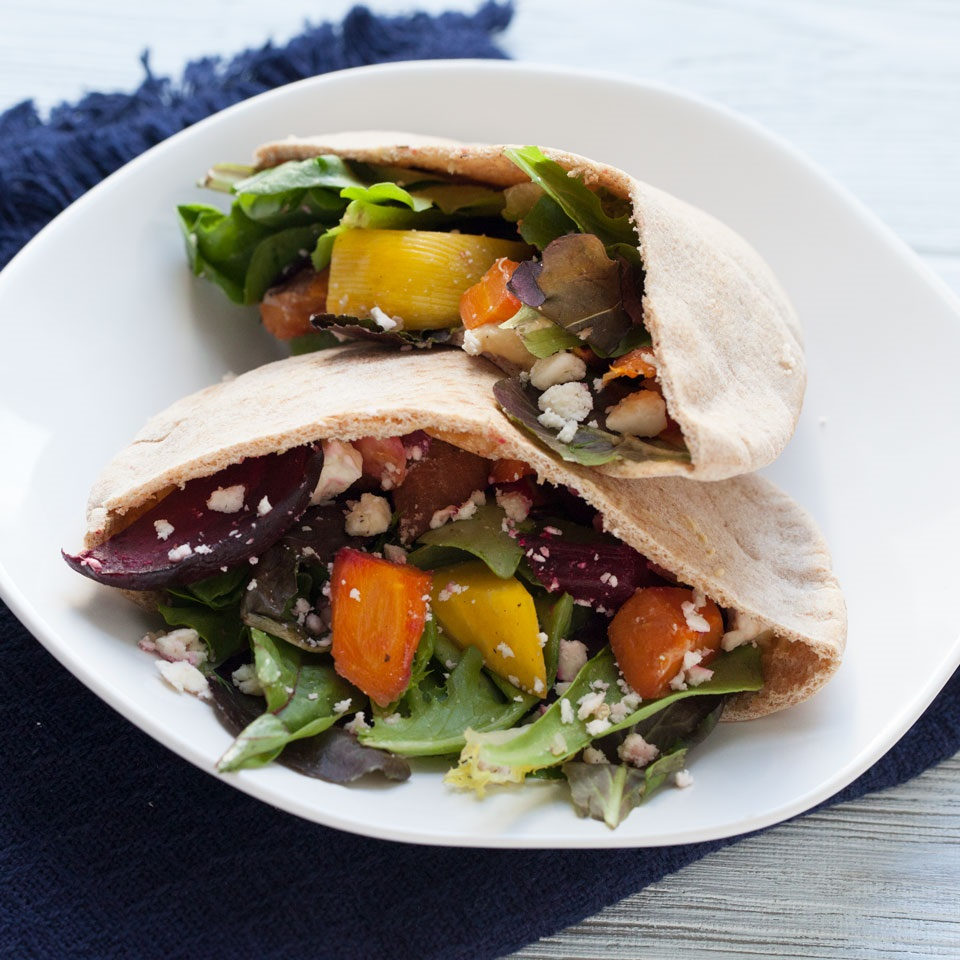 Roasted Veggie & Hummus Pita Pockets Victoria Seaver, M.S., R.D.