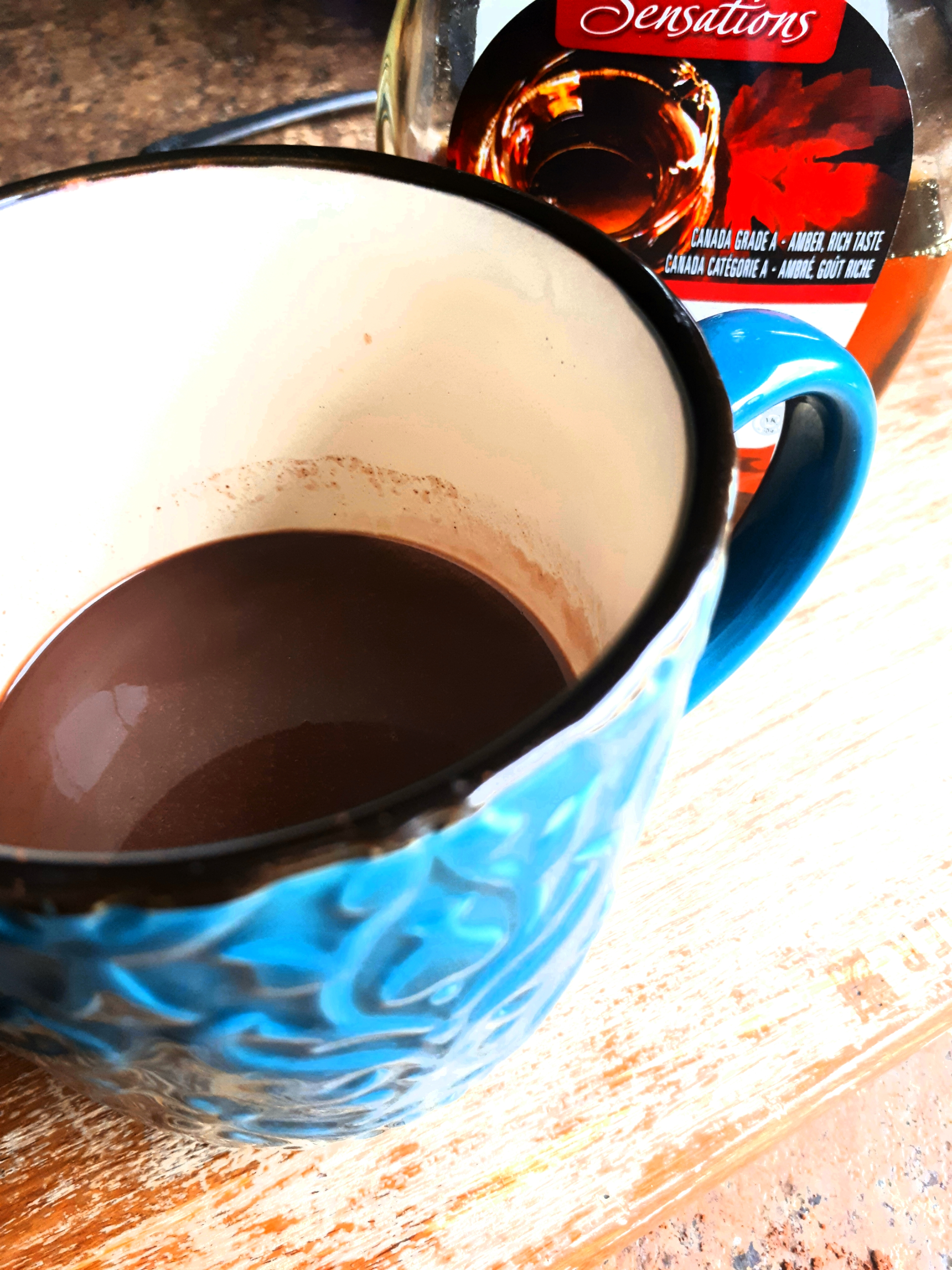 Simplest Hot Chocolate (with Maple Syrup and No Refined Sugar) Chef V
